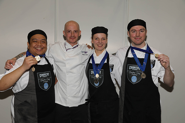 Country Range Student Chef Challenge winners, City of Glasgow College