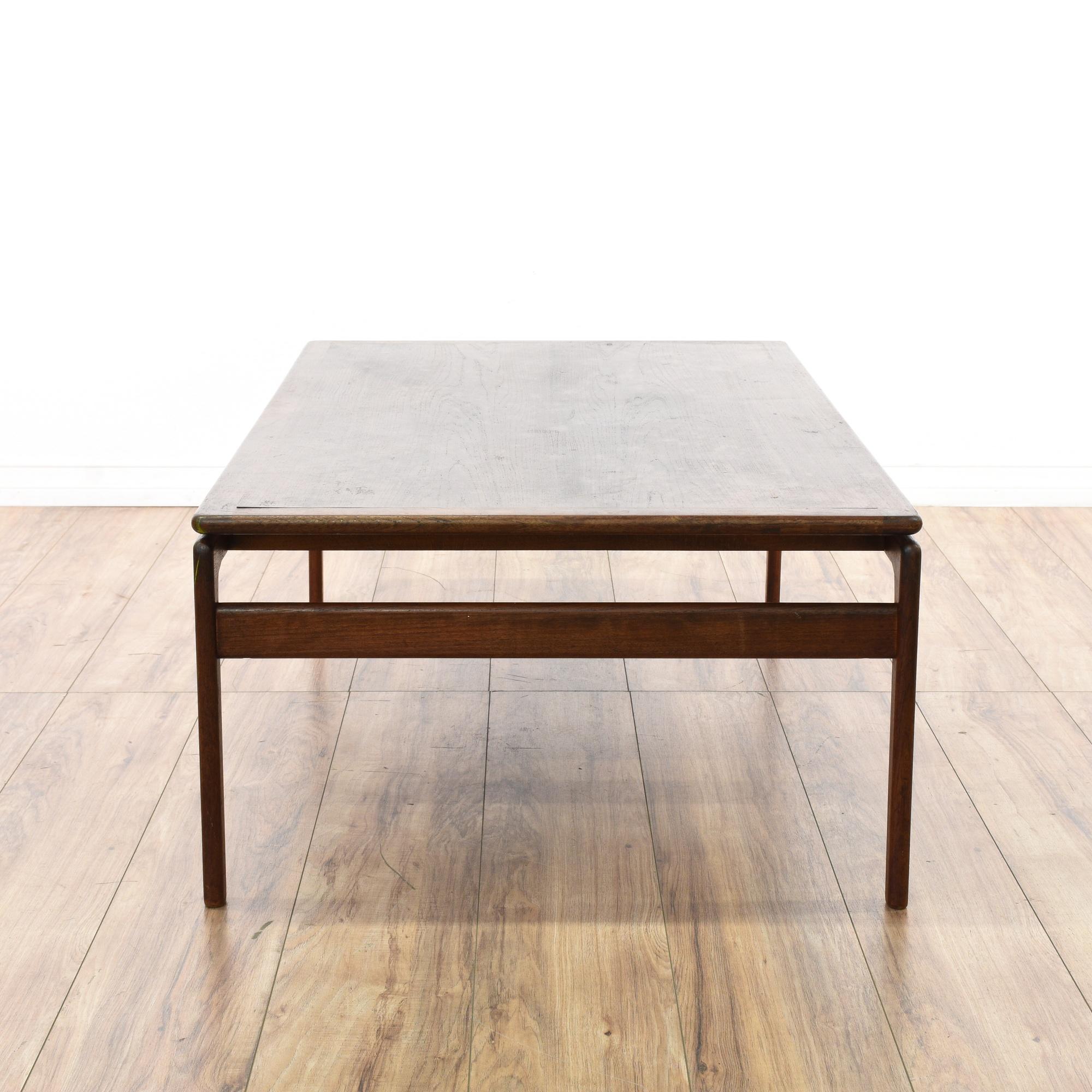 Large Mid Century Modern Walnut Coffee Table