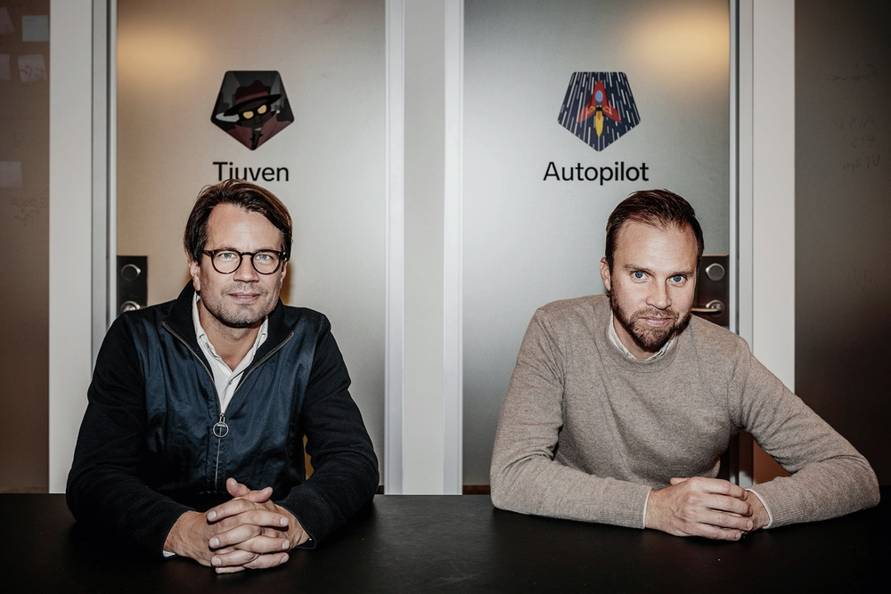 Henrik Rosvall, CEO and founder, Johan Hemminger, founder