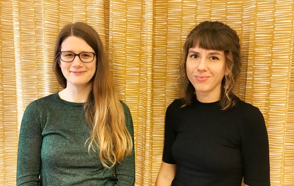 Malin Alkestrand och Lydia Wistisen, gästföreläsare vid Svenska barnboksinstitutets Bokprovning 2020. Foto: Sbi