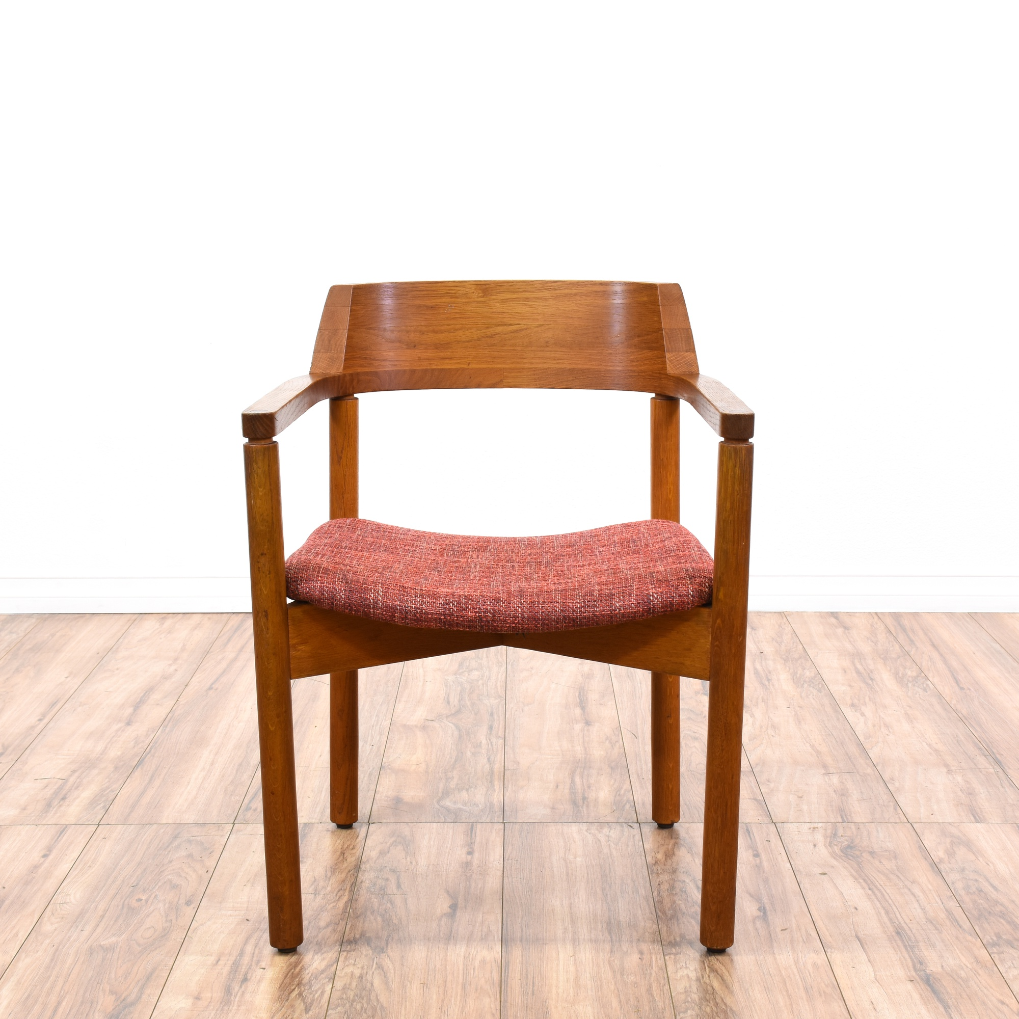 Mid century modern teak accent chair loveseat vintage for Mid century modern la