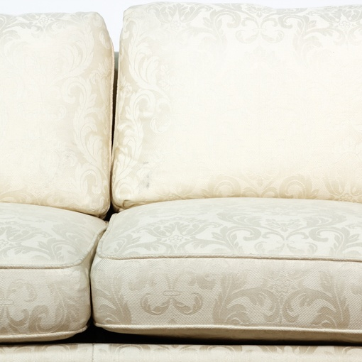 Damask Brocade White Sofa 2 Loveseat Vintage Furniture