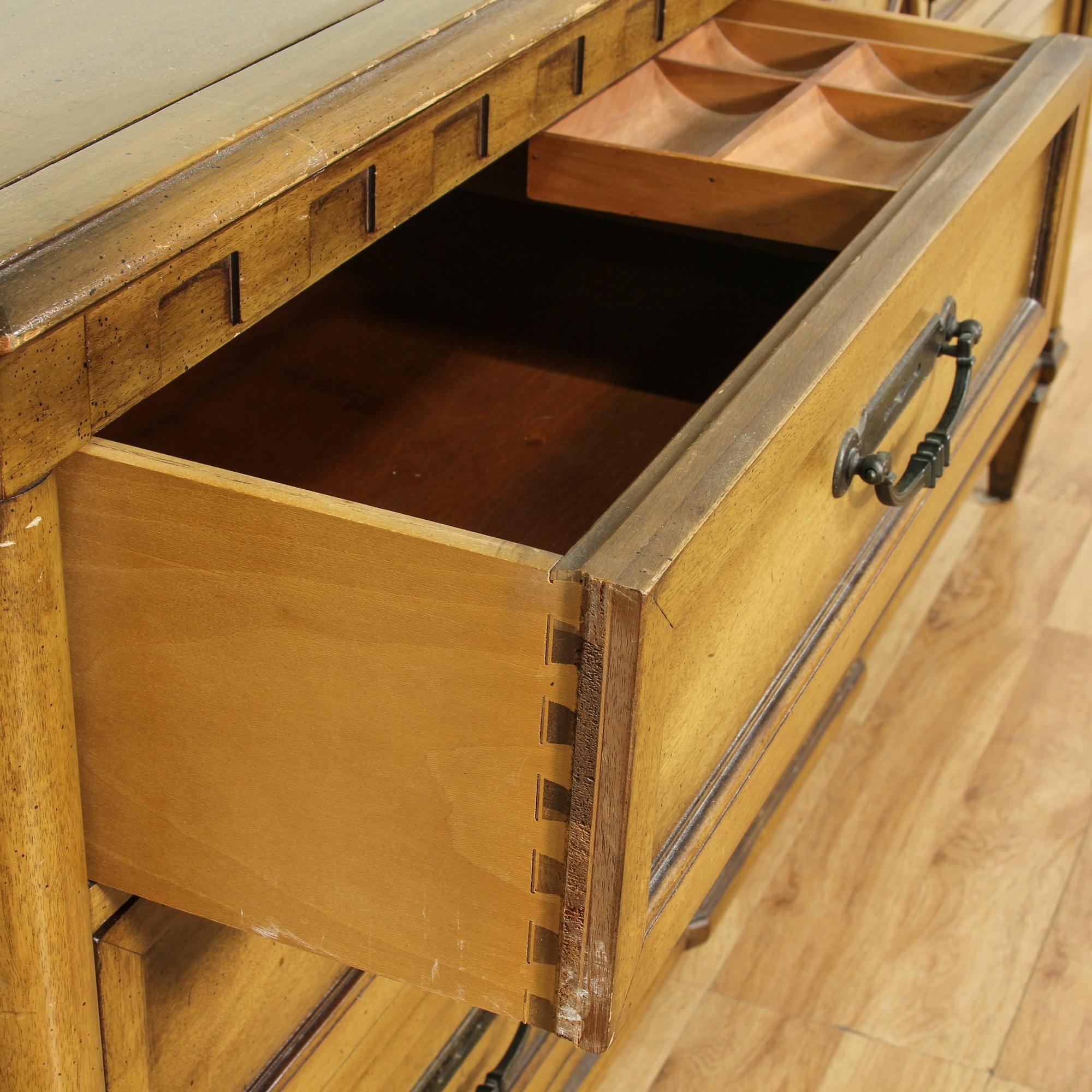 American Furniture Warehouse Desks ... Dresser w/ Mirror | Loveseat Vintage Furniture San Diego & Los Angeles