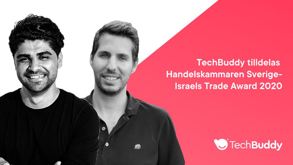 TechBuddy tilldelas Handelskammaren Sverige-Israels Trade Award 2020