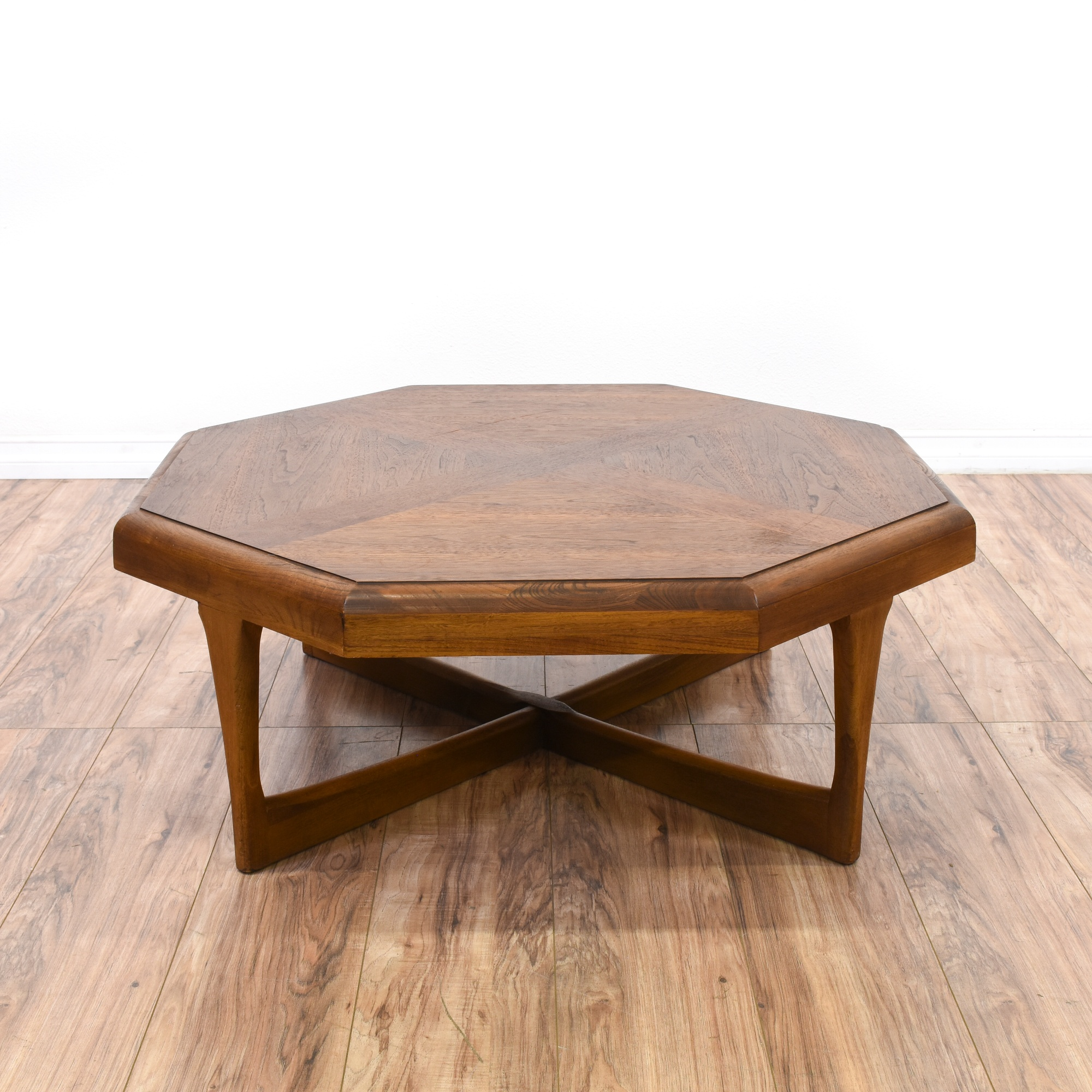 Lane Mid Century Modern Octagon Coffee Table Loveseat Vintage Furniture San Diego Los Angeles