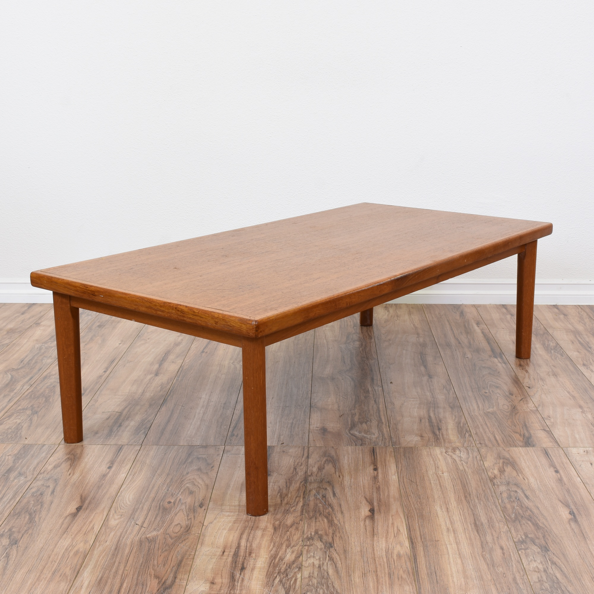 "Scandinavian Teak Coffee Table: ""BRDR FURBO"" Danish Modern Teak Coffee Table"