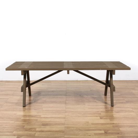 Contemporary Slat Top Wood Dining Table Loveseat Vintage  : JyAPAlhIT1uHdvA30xTQ from www.loveseat.com size 528 x 528 jpeg 85kB