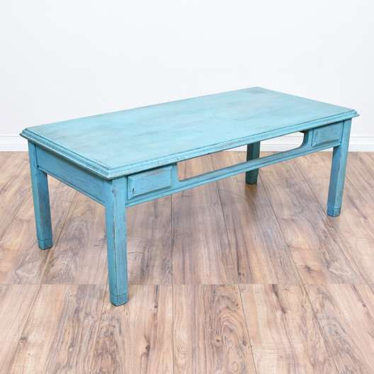 Light Blue Shabby Chic Coffee Table