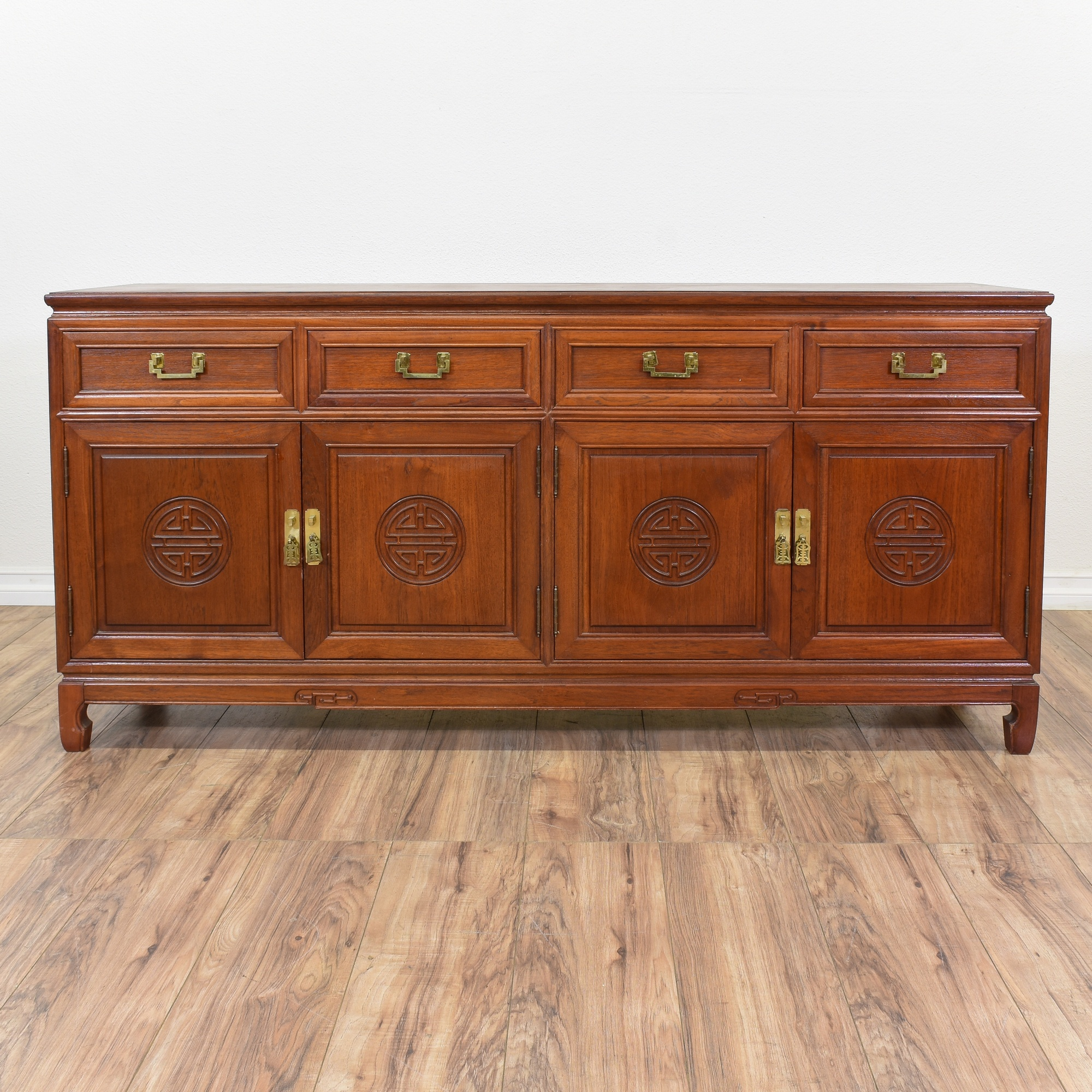 Asian Style Rosewood Buffet Sideboard | Loveseat Vintage Furniture ...