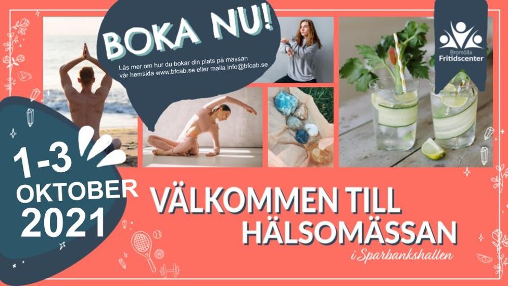 Nu bjuder Bromölla Fritidscenter in lokala företag att delta i Hälsomässan