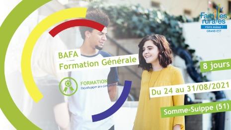 Représentation de la formation : Formation Générale BAFA Août 2021 - Somme-Suippes (51)