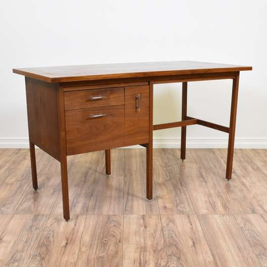 """Lane"" Mid Century Modern Walnut Desk"