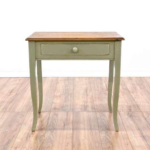 Green Rustic Farmhouse Console Desk