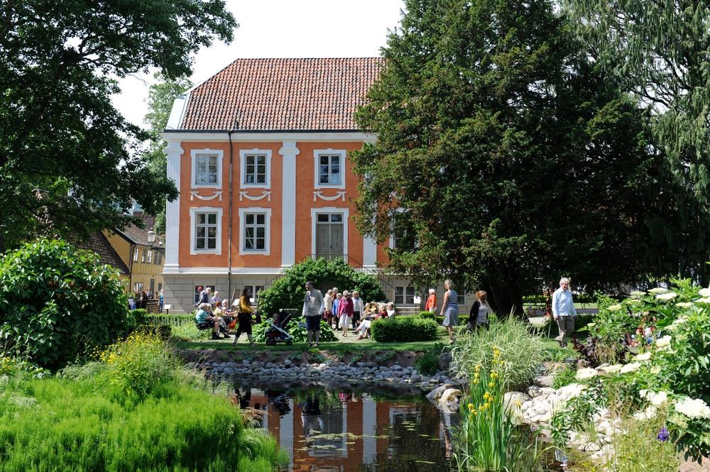 Friluftsmuseet på Kulturen i Lund. Herrehuset och den tillhörande dammen. Foto: Viveca Ohlsson/Kulturen