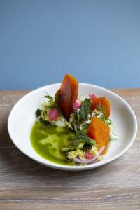 Sticky butternut squash salad