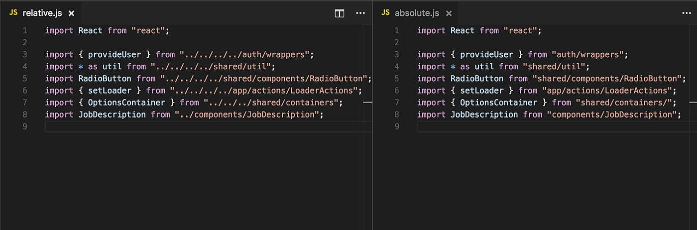 /react-pro-tip-use-absolute-imports-for-better-readability-and-easy-refactoring-2ad5c7f2f957 feature image