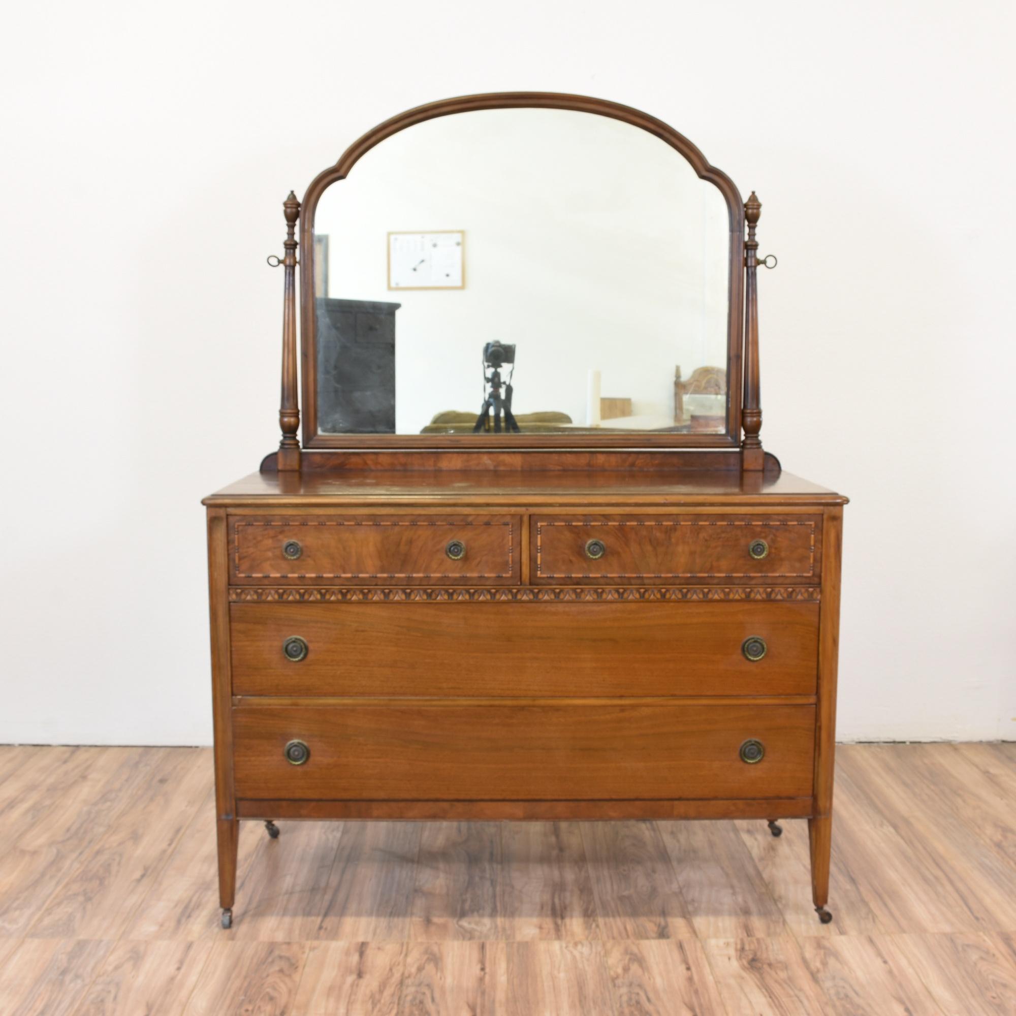 antique berkey gay dresser mirror loveseat vintage furniture san diego los angeles. Black Bedroom Furniture Sets. Home Design Ideas