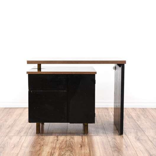Black & Wood Writing Desk