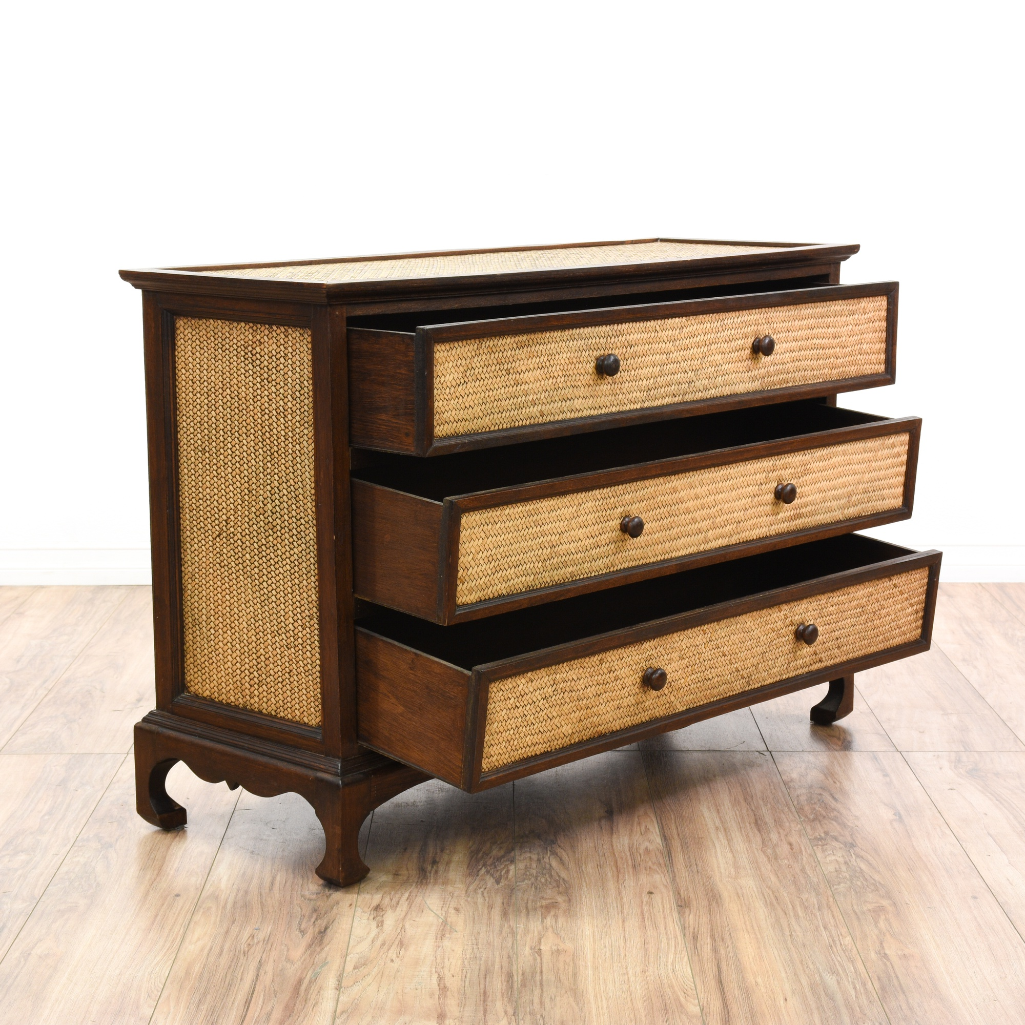 carved wood rattan chest of drawers loveseat vintage furniture san diego los angeles. Black Bedroom Furniture Sets. Home Design Ideas