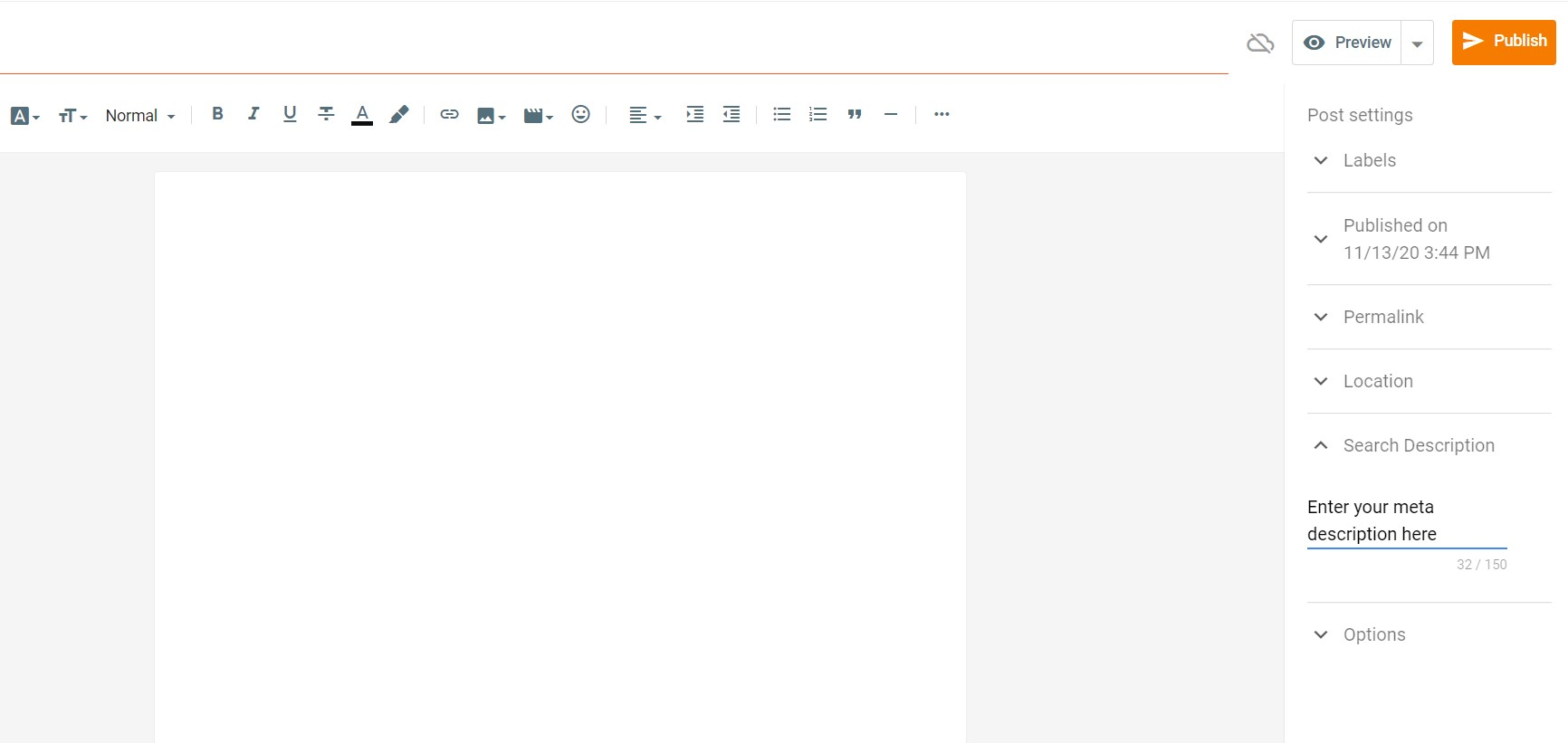 how to write meta description in blogger