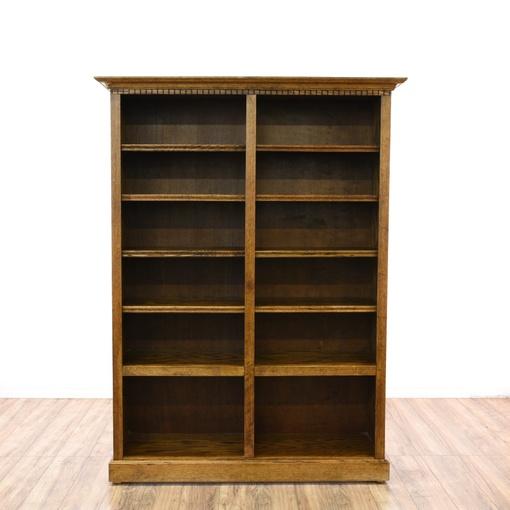 large oak double bookcase loveseat vintage furniture san diego los angeles. Black Bedroom Furniture Sets. Home Design Ideas