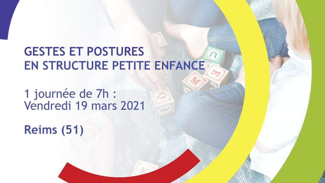 Représentation de la formation : Gestes et postures en structure Petite Enfance