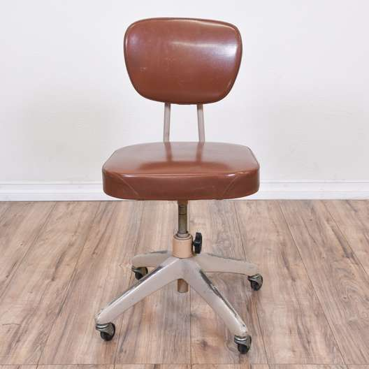 Retro Industrial Rolling Office Chair