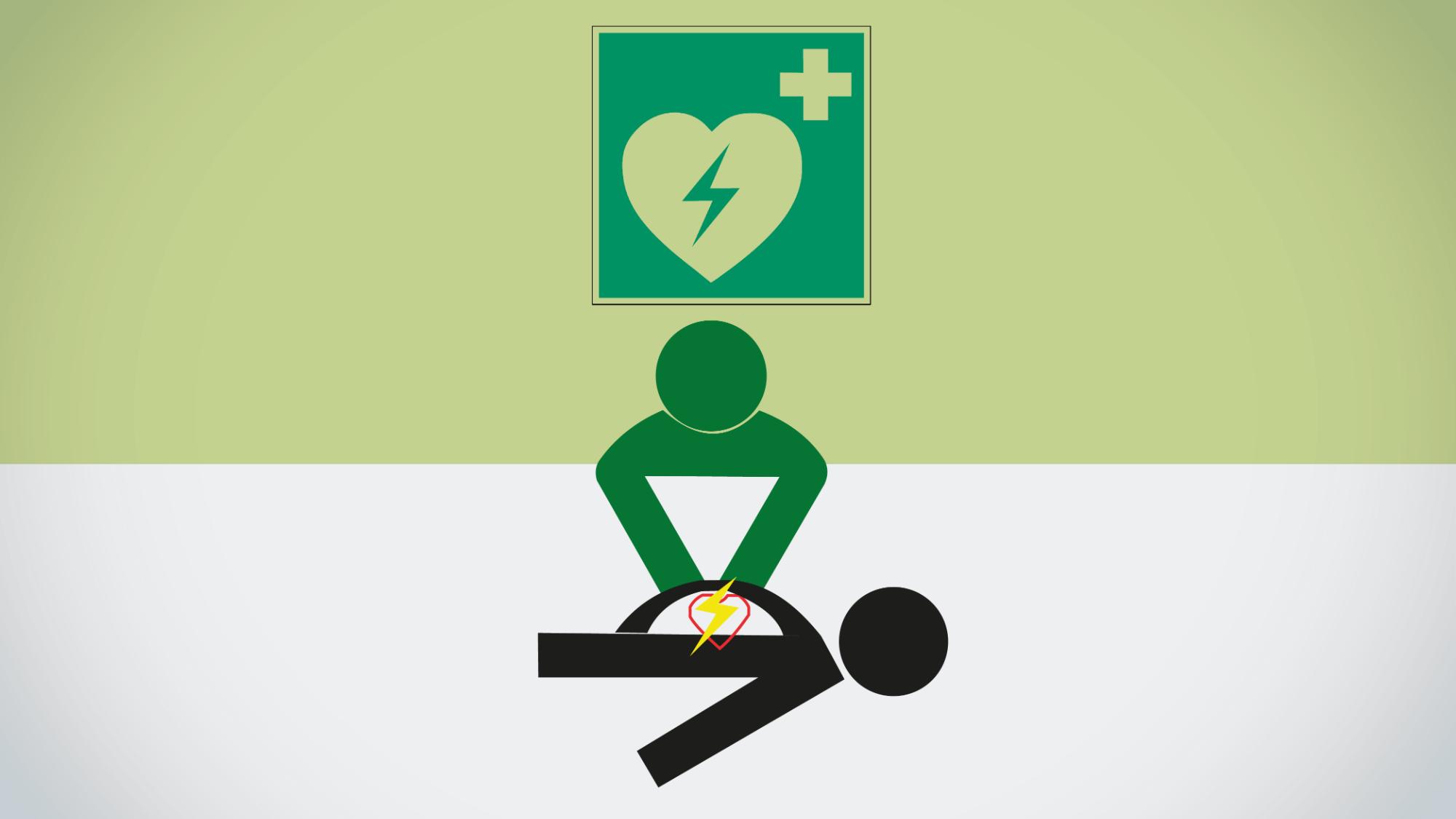 Représentation de la formation : Formation à l'utilisation du défibrillateur