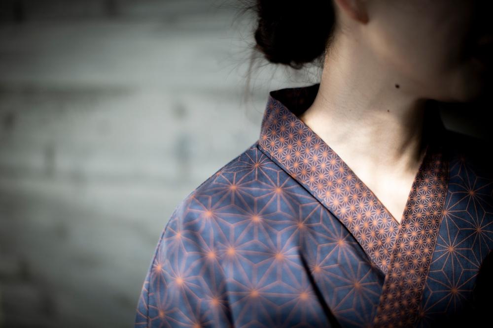 Den nya yukatan pryds av det traditionella japanskamönstret Asanoha – som symboliserar god hälsa och ett långt liv.