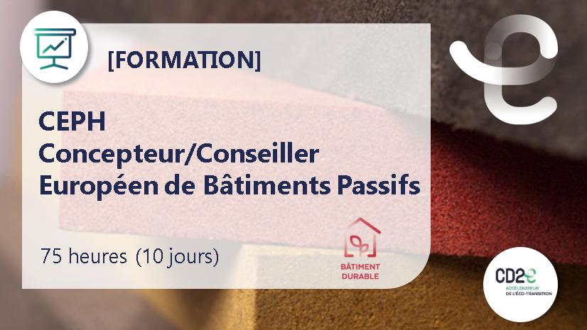 Représentation de la formation : CEPH - Concepteur/Conseiller Européen de Bâtiments Passifs