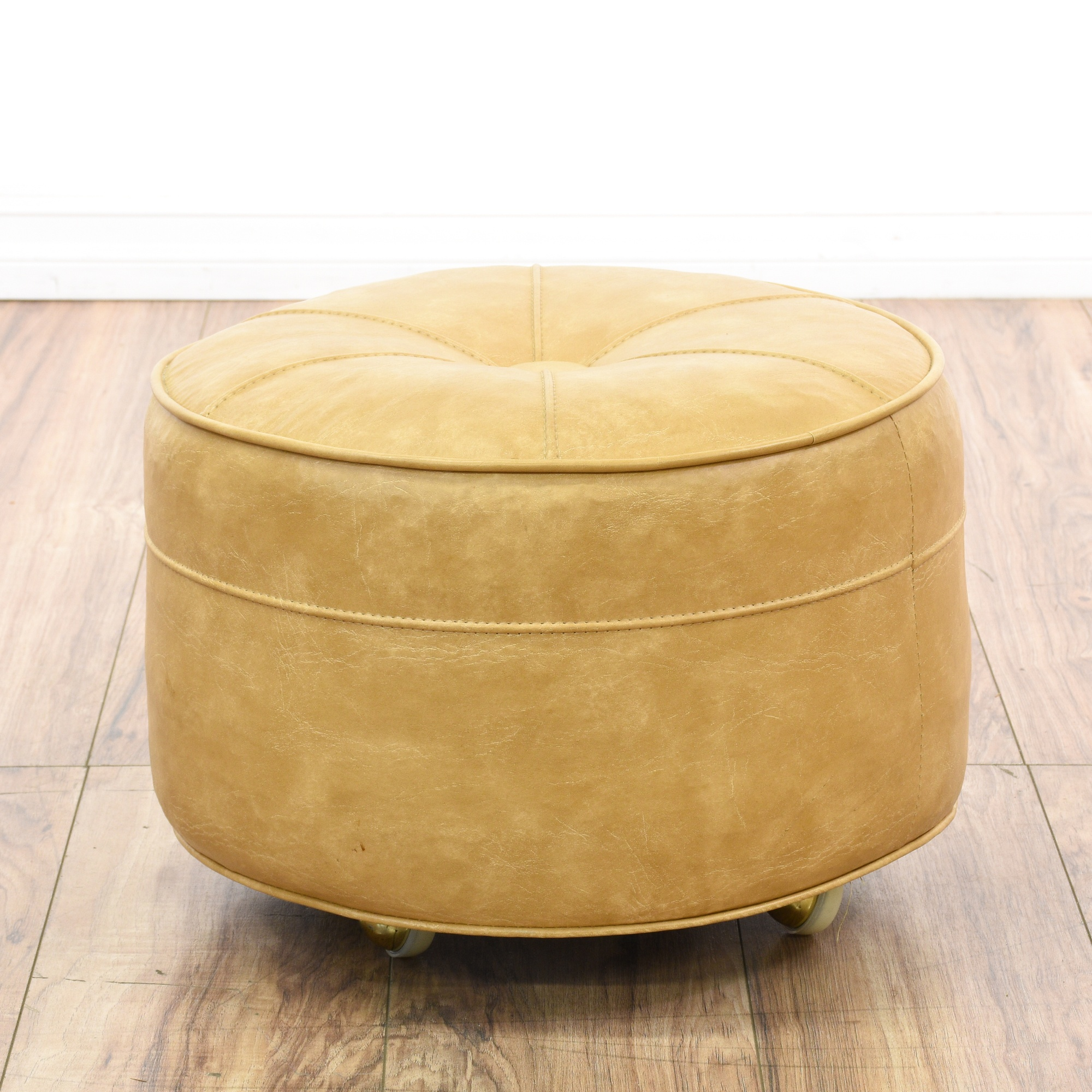 sale retailer d5ca2 2867e Mid Century Modern Rolling Ottoman Hassock | Loveseat ...