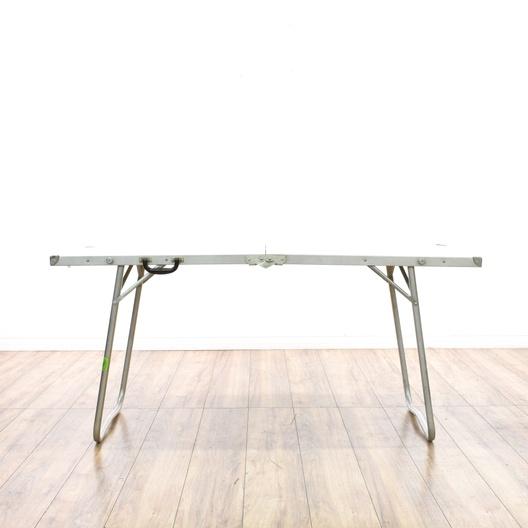 Phenomenal Portable Folding Aluminum Folding Table Loveseat Vintage Machost Co Dining Chair Design Ideas Machostcouk
