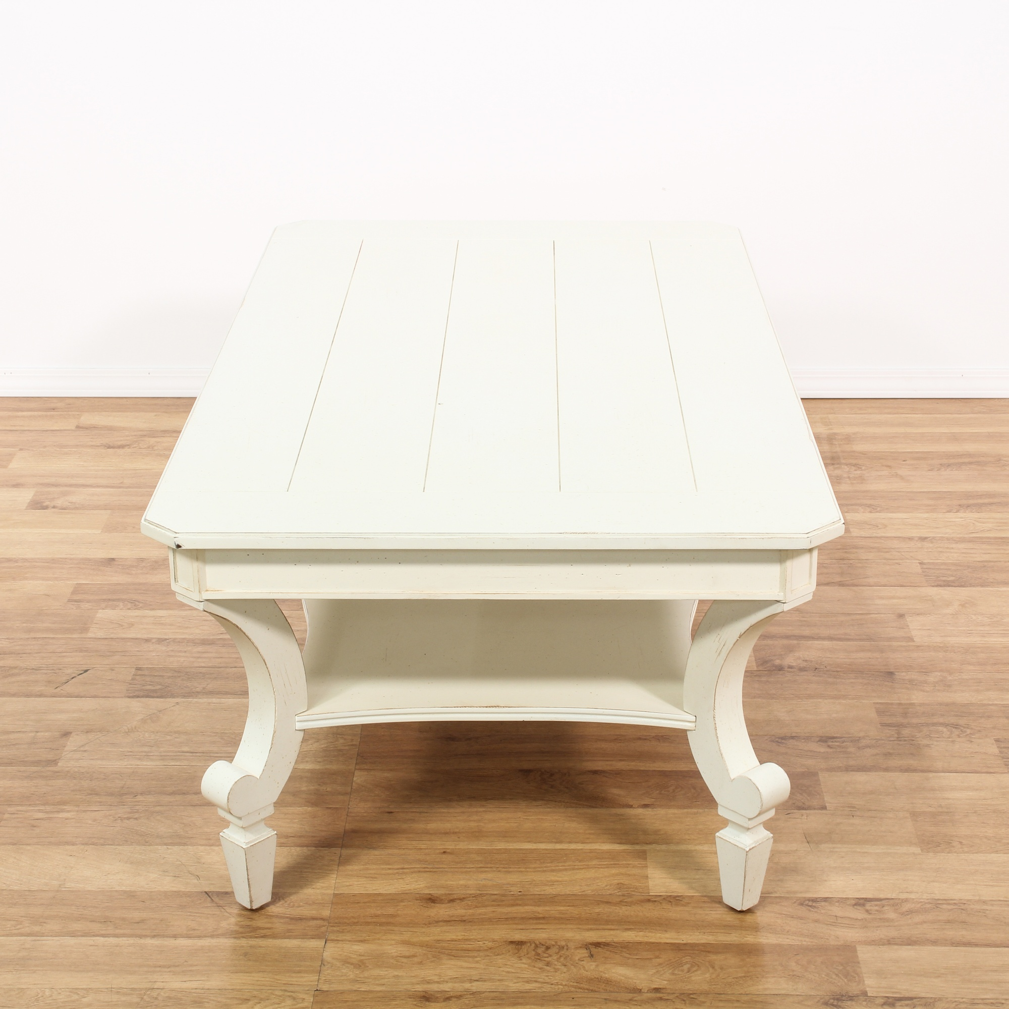 Shabby White Painted Coffee Table Loveseat Vintage Furniture San Diego Los Angeles