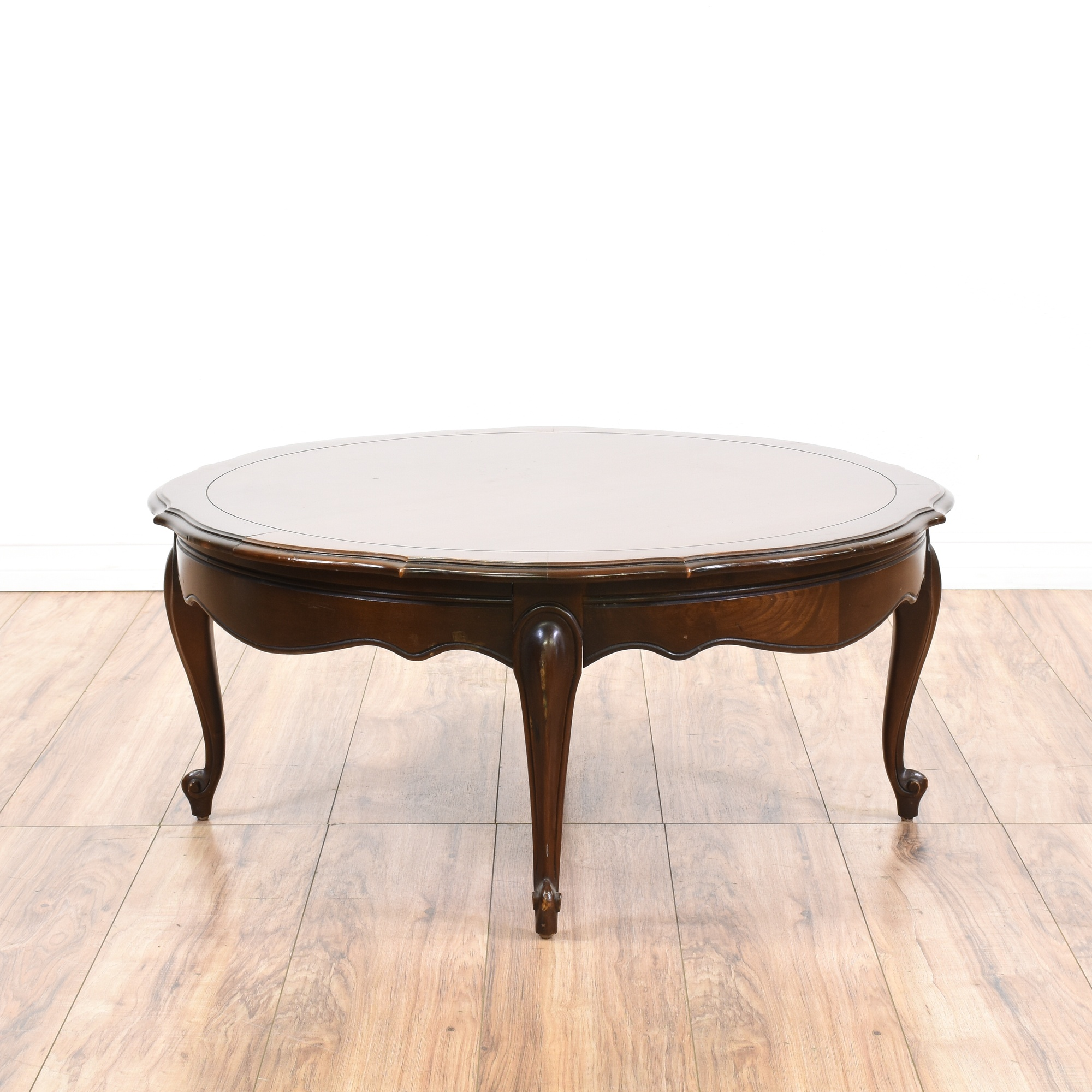 Round French Provincial Coffee Table