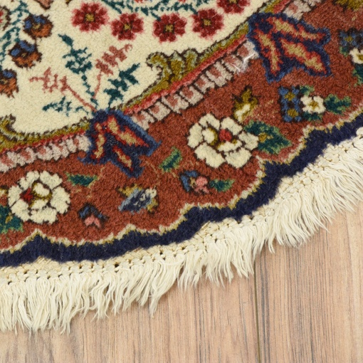 Persian Rug Los Angeles: Persian Bohemian Round Fringe Floral Area Rug