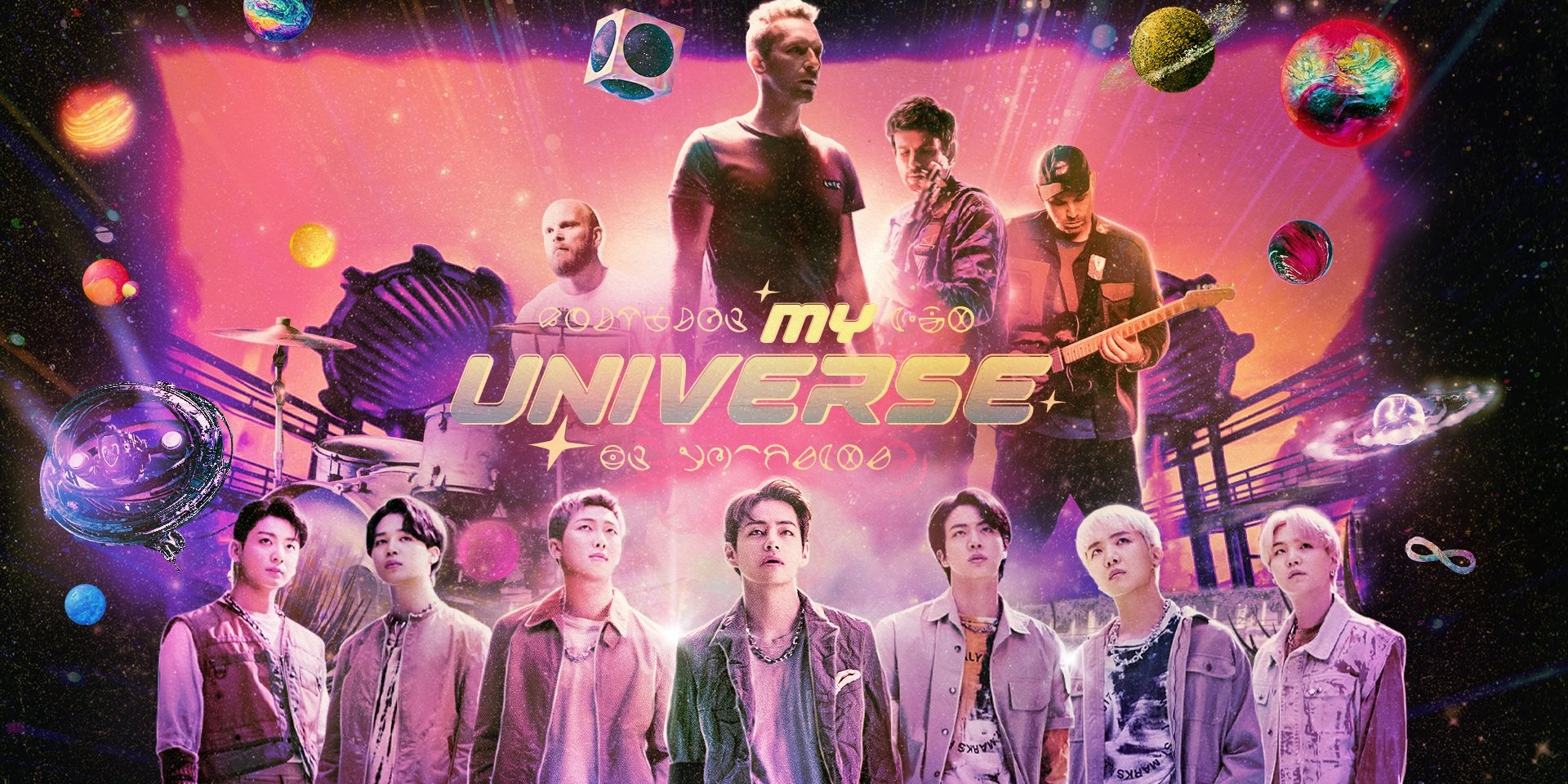 BTS and Coldplay go on an intergalactic adventure in official music video for 'My Universe' – watch