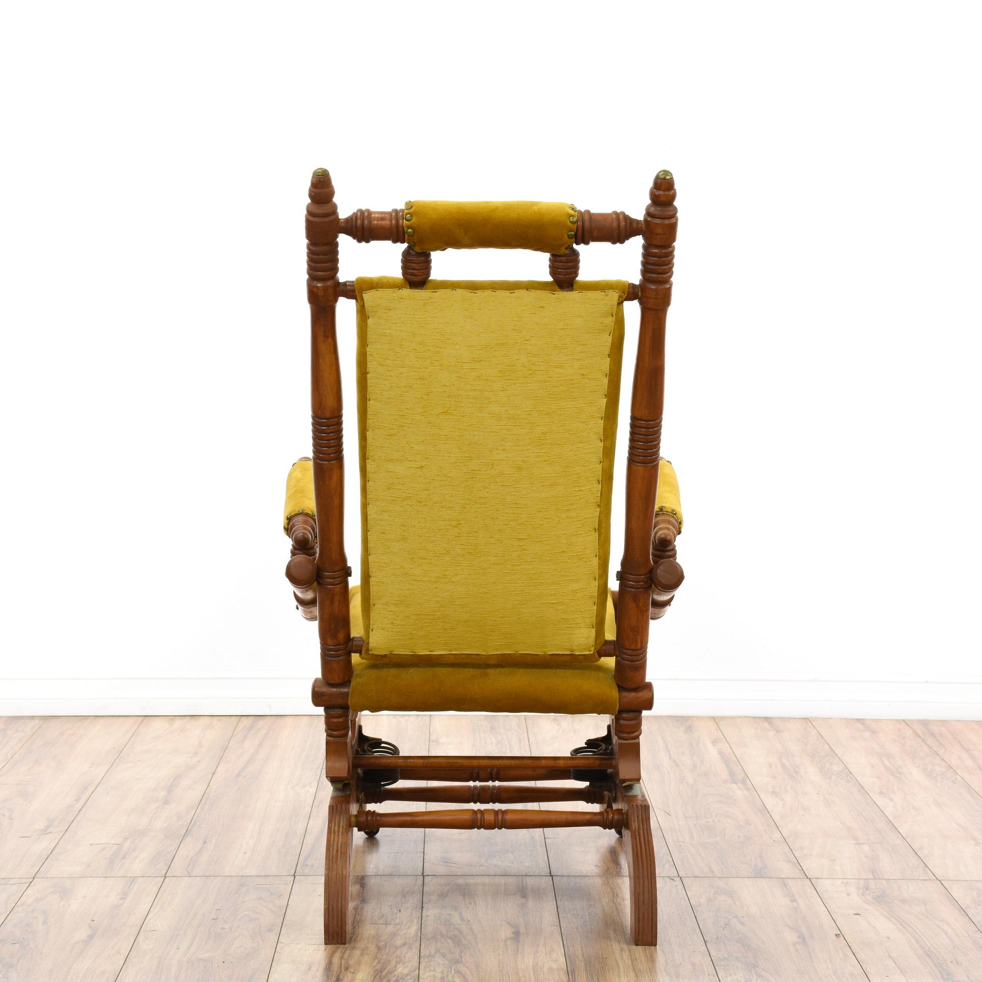 Victorian Eastlake Rocking Chair Loveseat Vintage