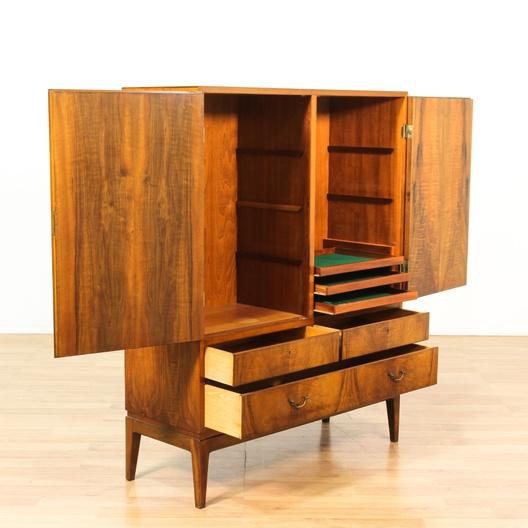 Danish modern wardrobe cabinet w key loveseat vintage for Danish modern la