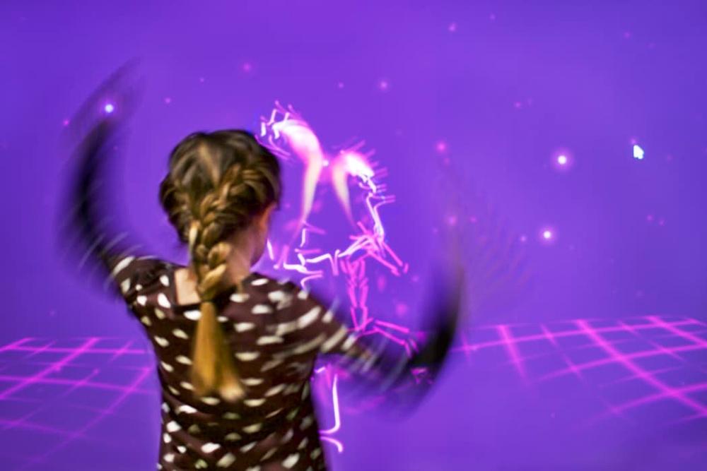 I Gestrumentet kan besökare dansa fram musik. Foto: Jeanette Hägglund