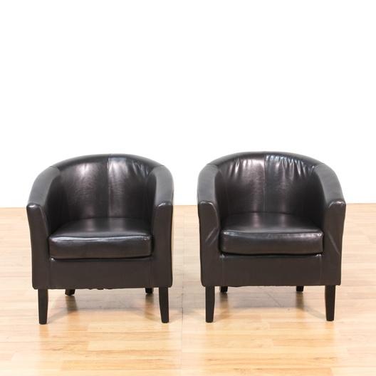 pair of brown mid century modern club chairs loveseat vintage