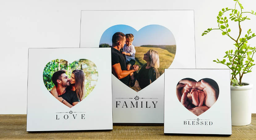 Wood Photo Art with 6 Heartfelt Message Options