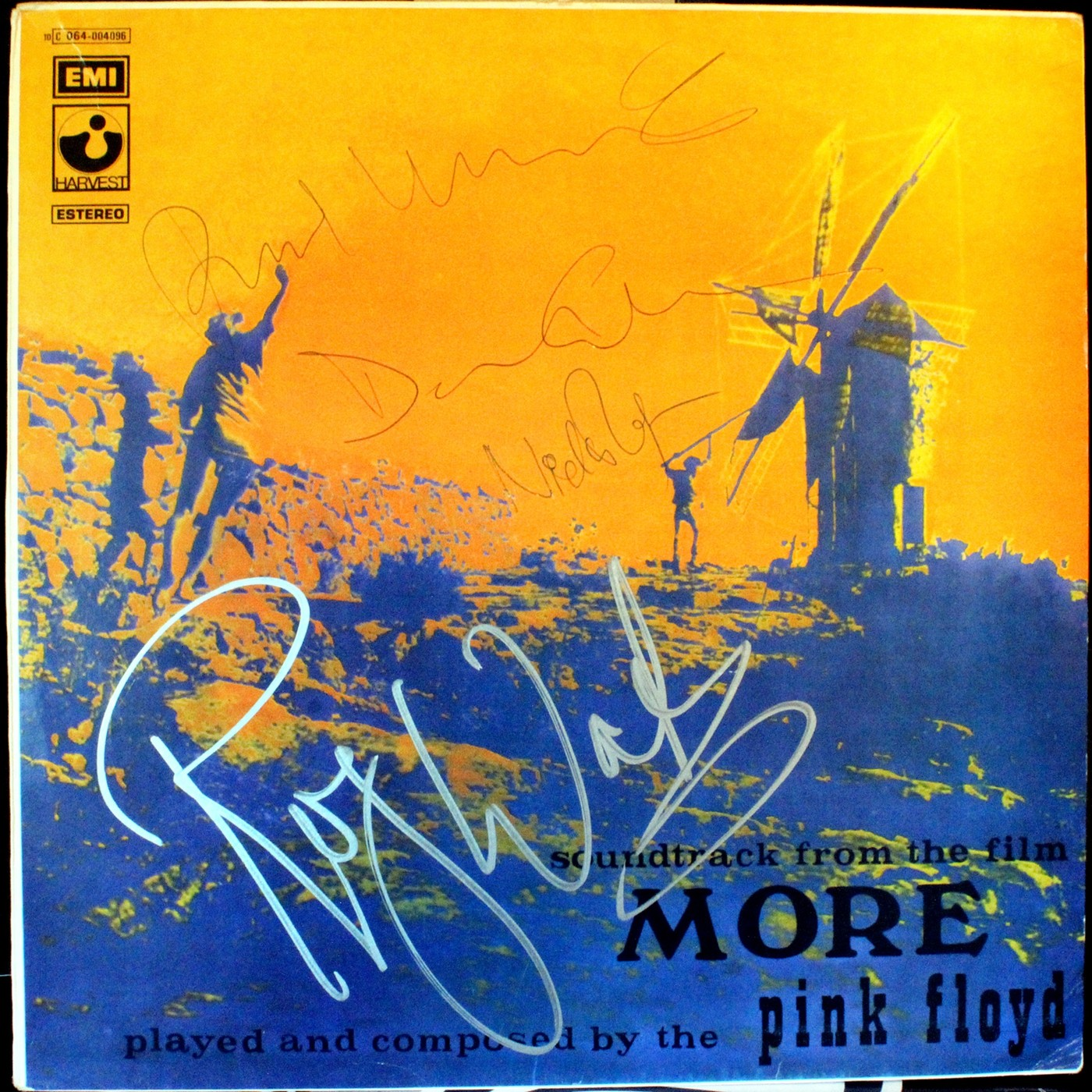 c5850d98d7e0 Pink Floyd hand signed MORE vinyl soundtrack by all 4