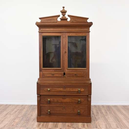 Eastlake Secretary Desk Cabinet