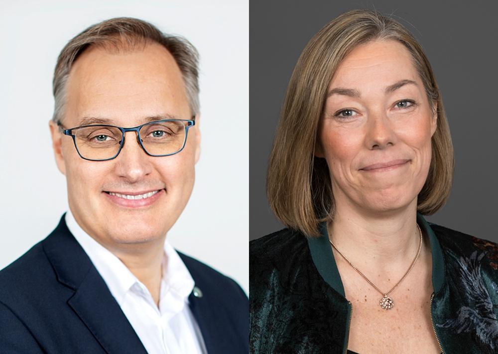 Tony Clark, vd Avfall Sverige och Pernilla Winnhed, vd Energiföretagen