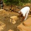 Ghardaya Cemetery, Man With Grave (Ghardaya, Algeria, 2009)