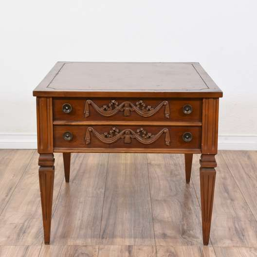 Neoclassical Cherry 1 Drawer End Table
