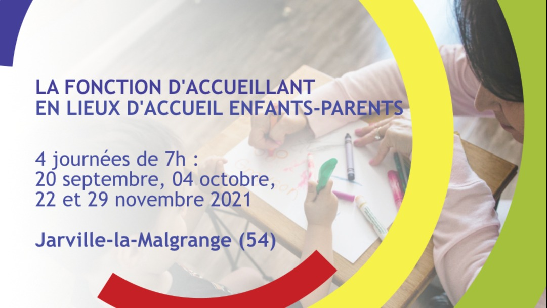 Représentation de la formation : La fonction d'accueillant en Lieux d'Accueil Enfants-Parents