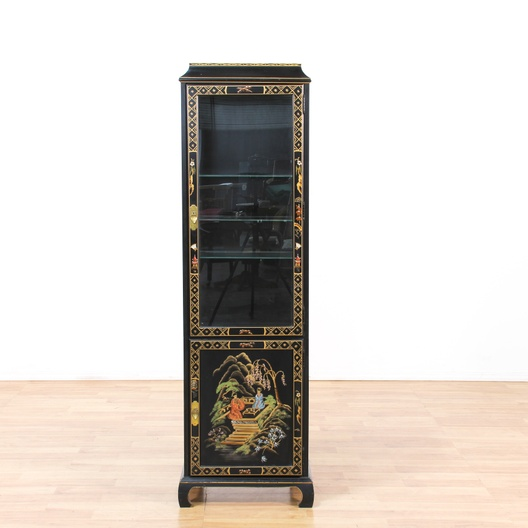 Quot Jasper Cabinet Quot Asian Tall Curio Cabinet Loveseat
