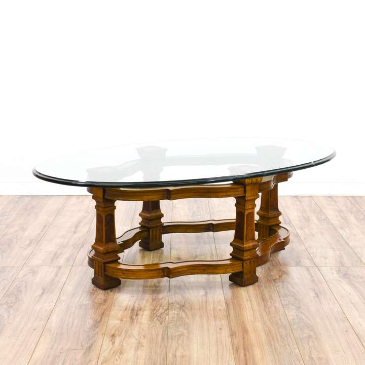 Gold Shabby Chic Coffee Table: Shabby Chic Blue Carved Coffee Table