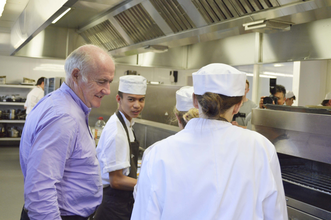 Rick Stein with students
